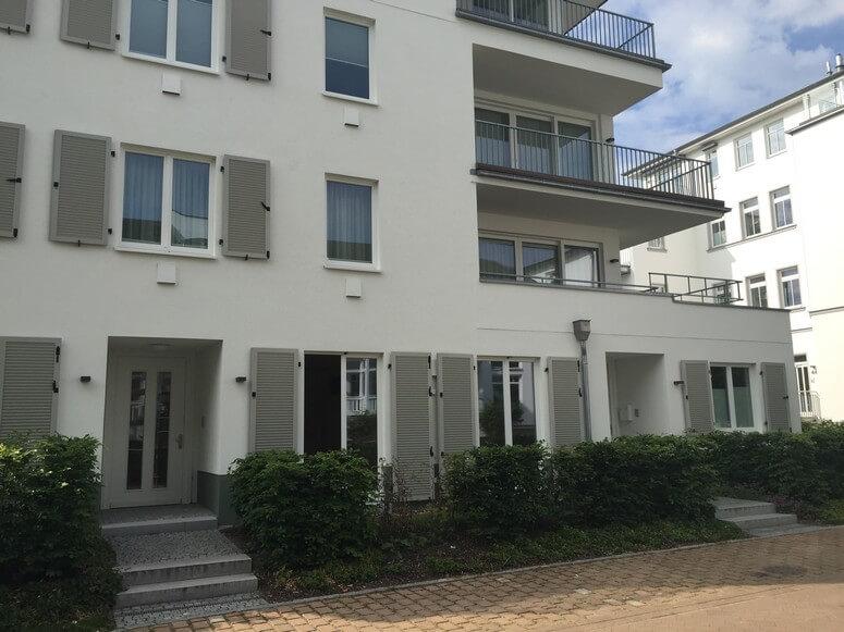 Seitenansicht Strandhaus Seeblick