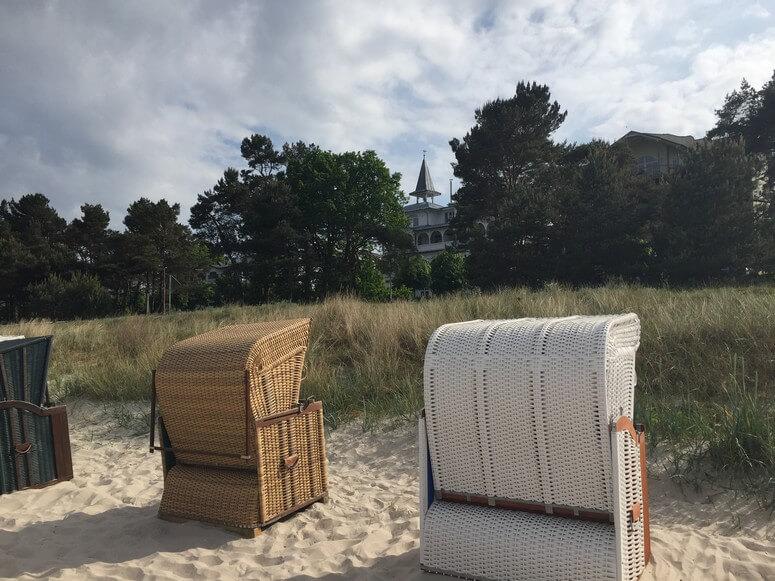 Villa Seeblick vom Strand gesehen
