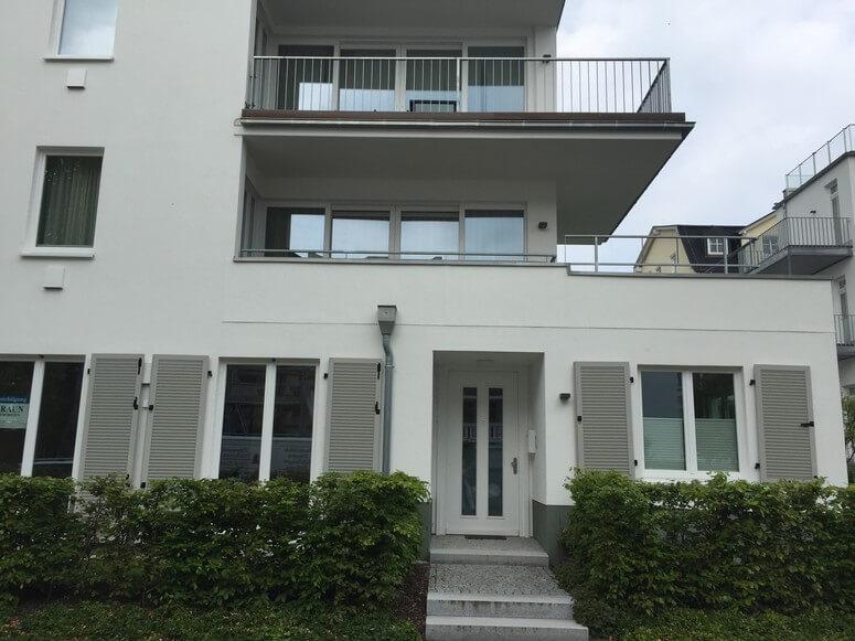 Aussenansicht Strandhaus Seeblick von der  Goethestraße