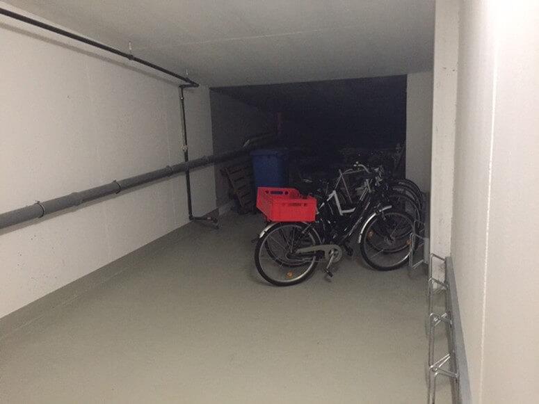 Sicherer Abstellplatz für Fahrräder im Fahrradkeller