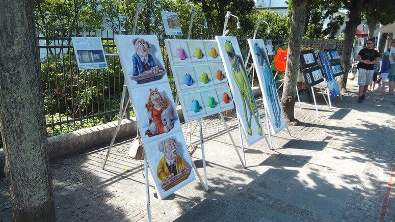 Kunsthandwerk an der Promenade in Binz