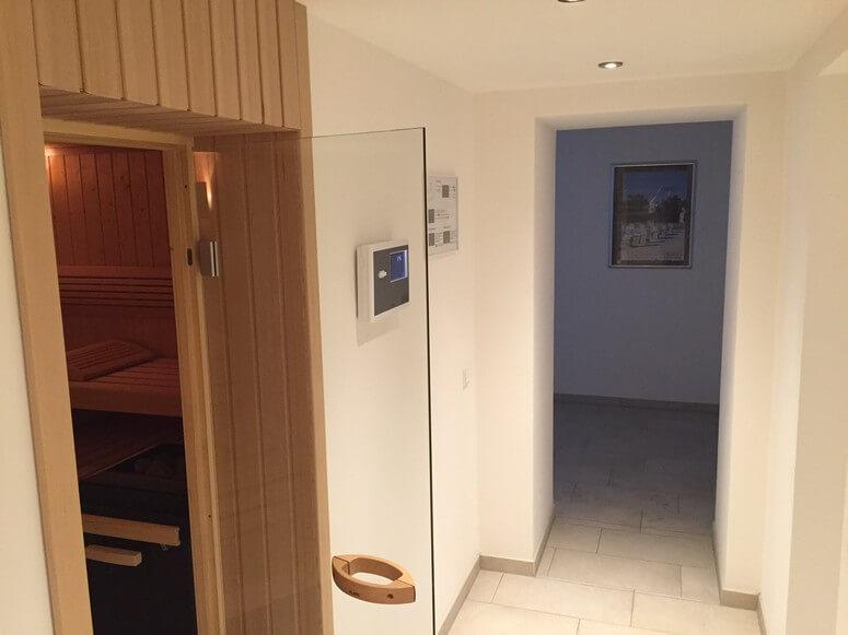 Großzügige Sauna- kostenlos nutzbar für alle Gäste