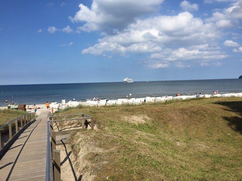 Strandzugang direkt bei der Villa Seeblick