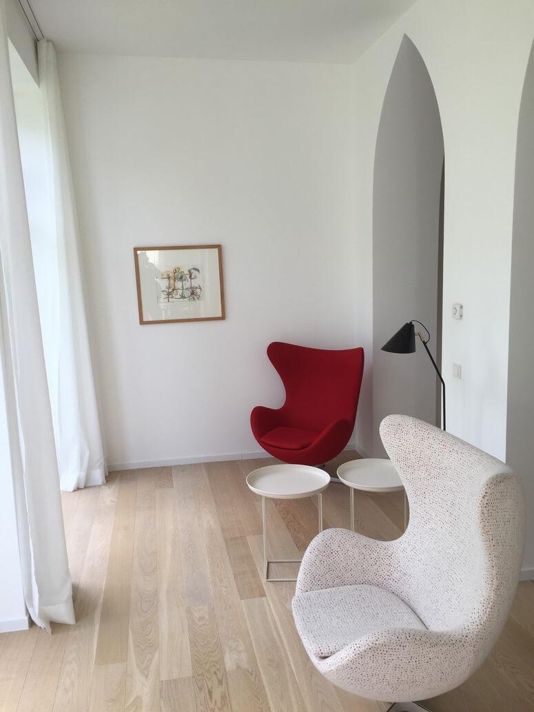 Wohnbereich Wintergarten Villa Seeblick Binz